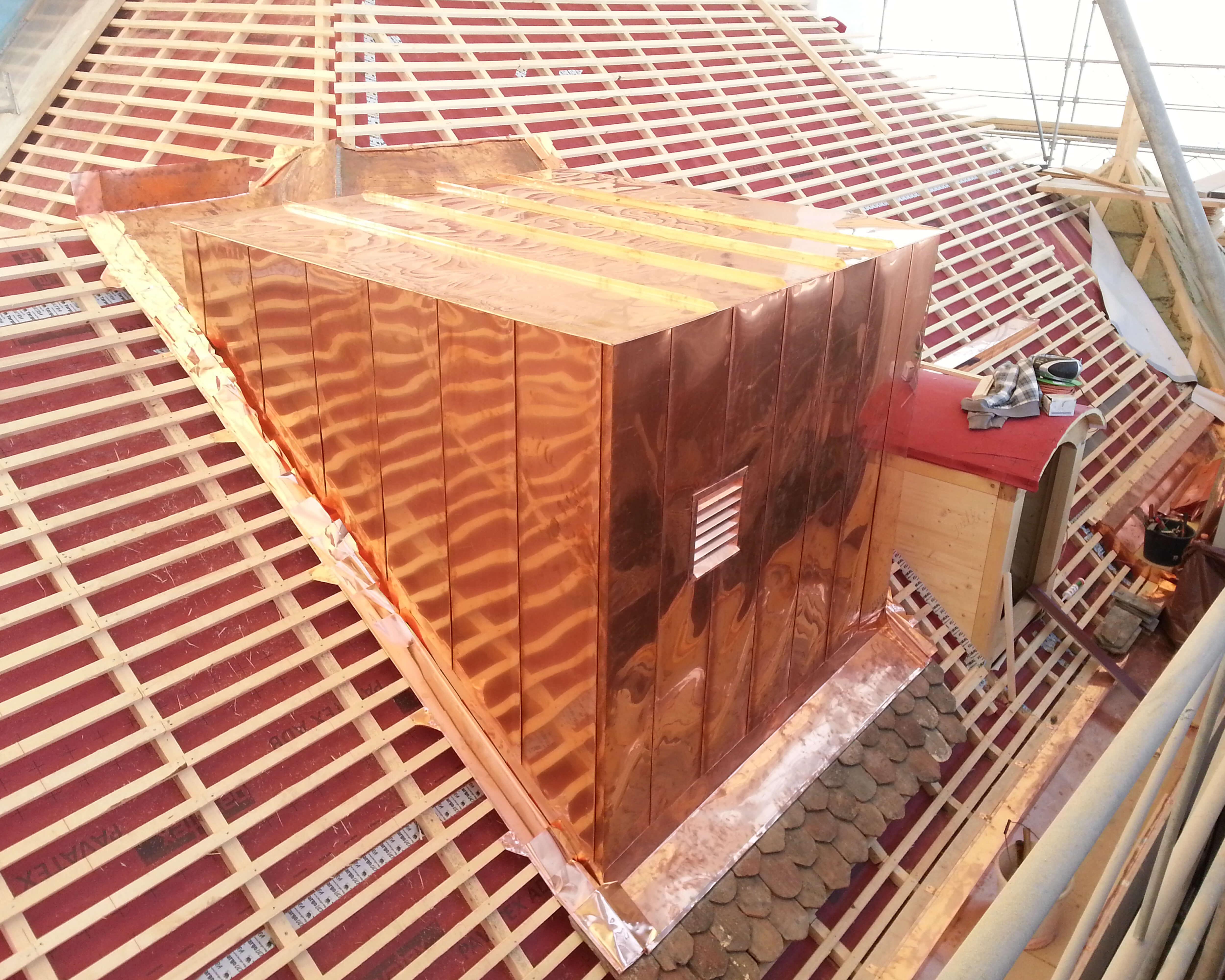 Couverture de toiture - Couverture de toiture en cuivre - Kroepfli Toiture