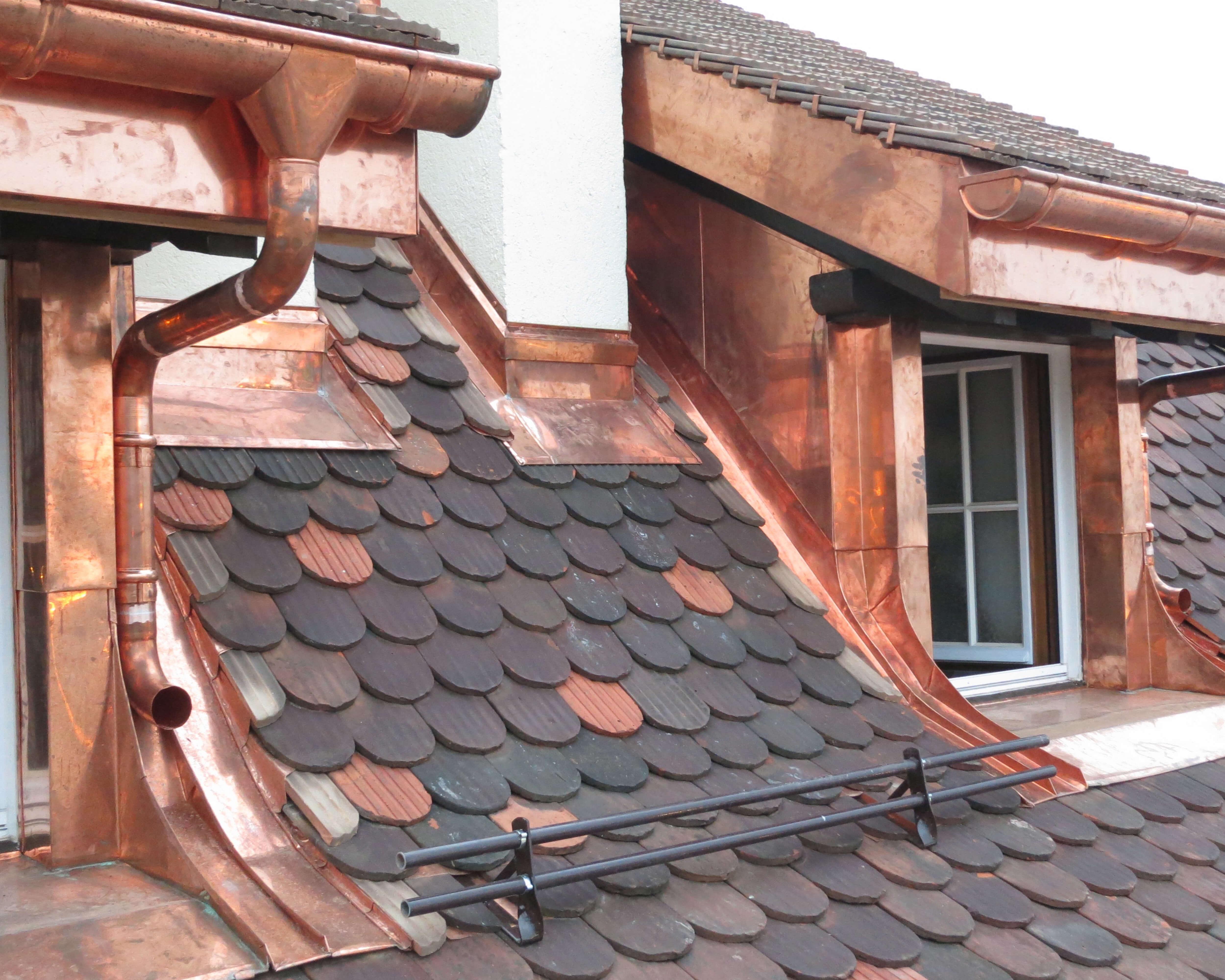 Couverture de toiture en cuivre - Kroepfli Toiture